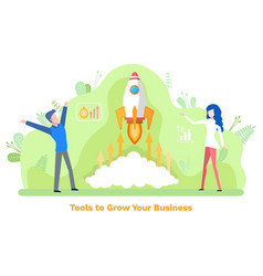 business innovation tools to grow invest vector image