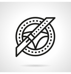 Car insurance black line icon Safe driving vector image