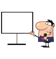 Cartoon teacher vector