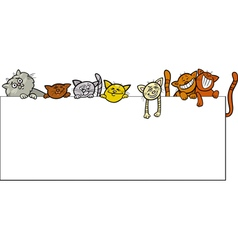 cats with frame cartoon design vector image