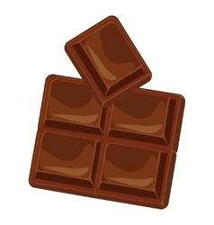 Chocolate bars and pieces set vector image