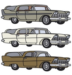 Classic station wagons vector