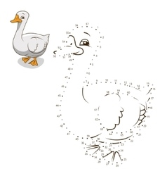 Connect dots game goose vector