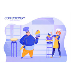 cooks cartoon vector image