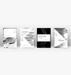 Cover page design template stylish brochure layou vector