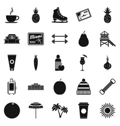 Discipline icons set simple style vector