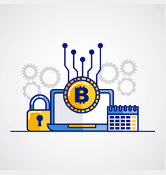 Fintech bitcoin cryptocurrency vector