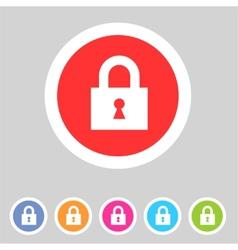 Flat game graphics icon lock vector image