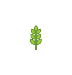 flower garden logo design linear eco natur vector image