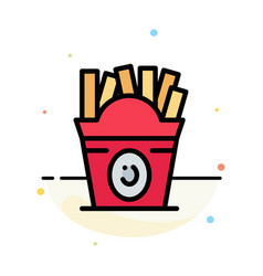 fries fast food food usa abstract flat color icon vector image