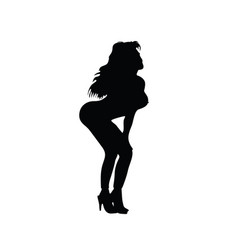 Girl with sexy body silhouette vector
