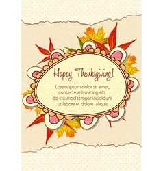 Happy thanksgiving day with doodle frame vector