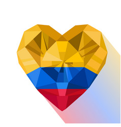 Heart the flag of the republic of colombia vector