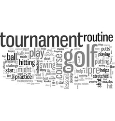 how to prepare for a golf tournament vector image