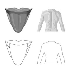 human and part logo set of vector image