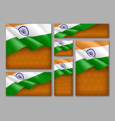 Indian patriotic festive banners set vector