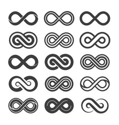 infinity icon set images vector image
