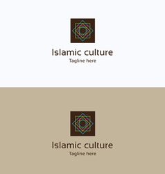 Islamic culture star logo vector