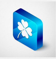 isometric four leaf clover icon isolated on white vector image