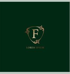 Letter f alphabetic logo design template luxury vector