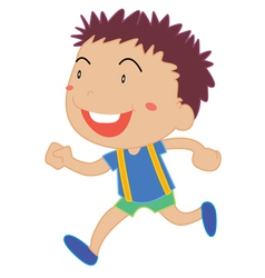 Little Boy running vector image vector image