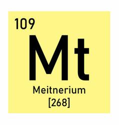 meitnerium chemical symbol vector image