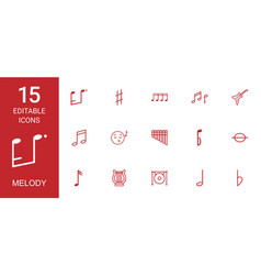 melody icons vector image