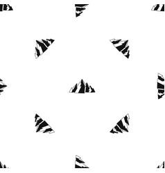 Mountain pattern seamless black vector