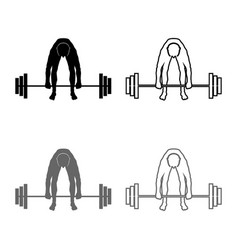 muscular man weightlifter doing raising the vector image