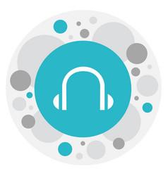 Of bureau symbol on headphone vector