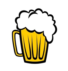 Pint refreshing frothy beer vector