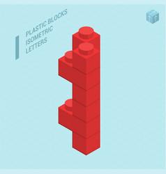 Plastic blocs letter i vector
