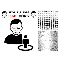 Portal moderator icon with bonus vector