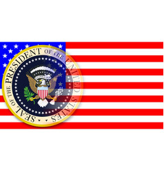 presidential seal on flag vector image
