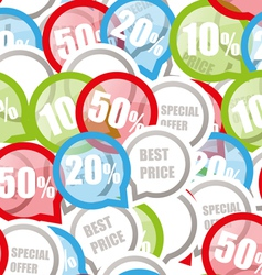 Price discount background vector