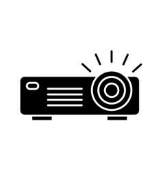 Projector glyph icon vector