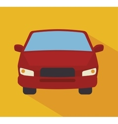 Red car isolated icon design vector