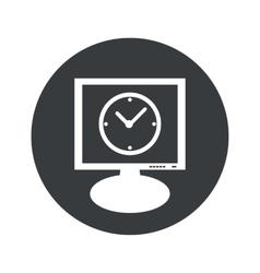 Round clock monitor icon vector