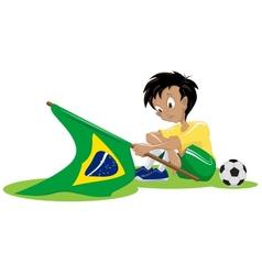 Sad brazil soccer fan vector