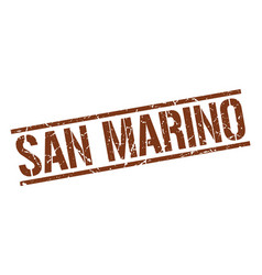 San marino brown square stamp vector