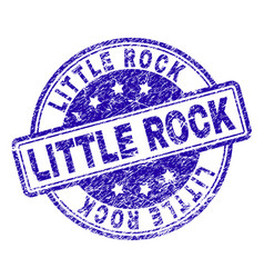 Scratched textured little rock stamp seal vector