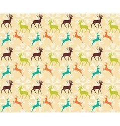 Seamless pattern with reindeers vector image