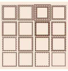 Set of Square Frames vector image