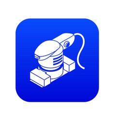 Sheet sander icon blue vector