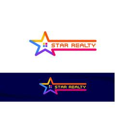 Star property realty logo sign symbol icon vector