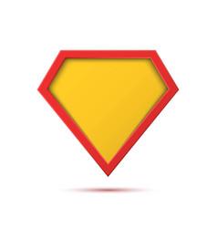 Superhero logo template blank super hero icon vector