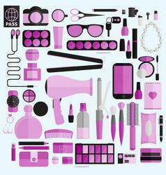 Tools for makeup business tools flat design vector