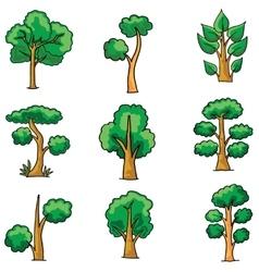Tree set on doodles vector