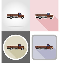truck flat icons 01 vector image