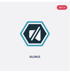 Two color silence icon from signs concept vector